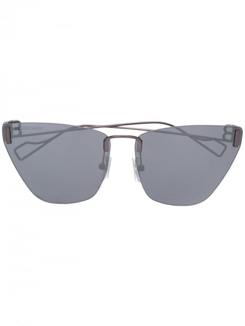 Balenciaga - cat-eye sunglasses - women - metal - One Size - SILVER