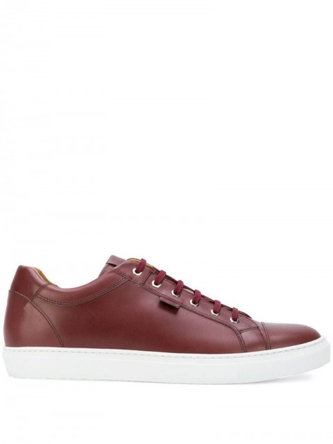 Brioni - low-top sneakers - men - Leather/Rubber/Calf Leather - 42.5, 45 - Red