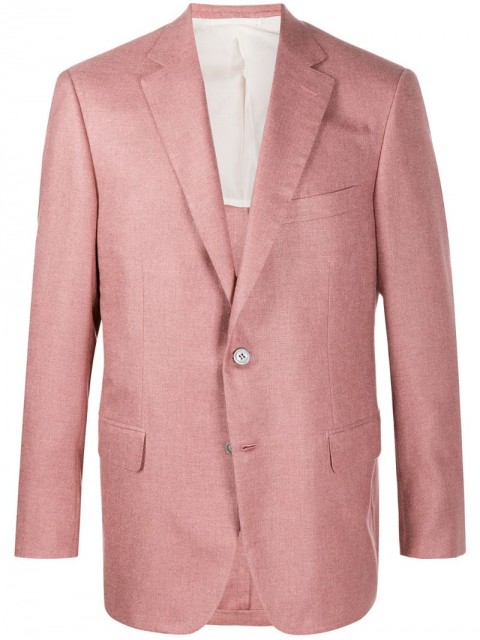 Brioni - single-breasted fitted blazer - men - Silk/Cashmere - 50, 54, 58 - PINK