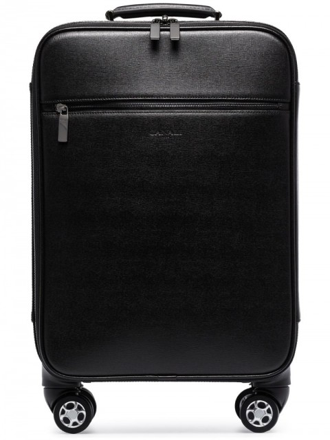 Canali - holdall suitcase - men - Leather - One Size - Black