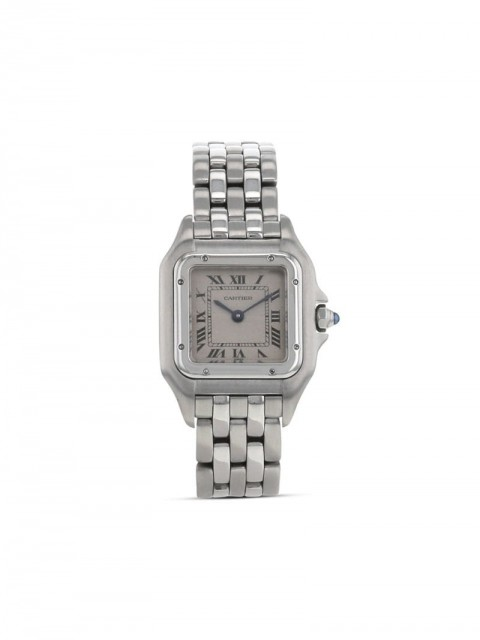 Cartier - 1990 pre-owned Panthère 21mm - women - stainless steel - One Size - CREAM