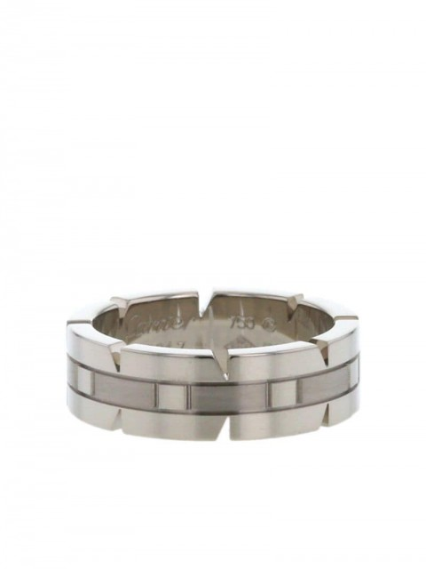 Cartier - 2010 pre-owned white gold Tank ring - women - White Gold - 51 - WHITE