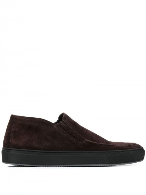 Corneliani - classic slip-on loafers - men - Suede/Rubber/Leather - 7.5 - Brown