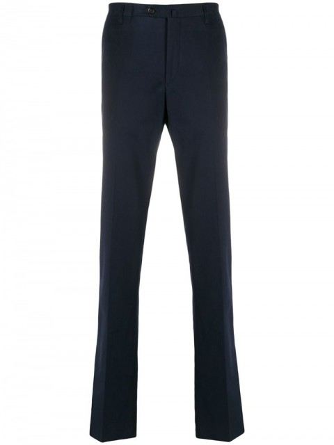 Corneliani - straight-leg chinos - men - Cotton/Spandex/Elastane - 48, 50 - Blue