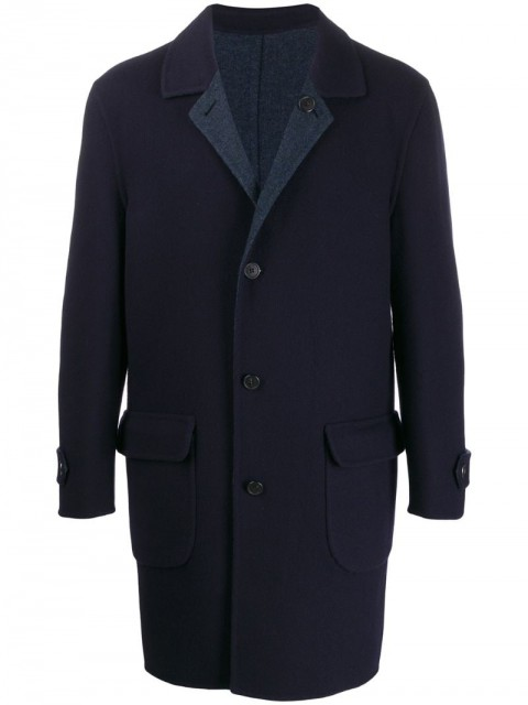Corneliani - single breasted coat - men - Polyamide/Cashmere/Virgin Wool - 52, 54 - Blue