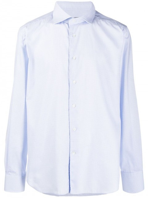 Corneliani - dress shirt - men - Cotton - 43, 44 - Blue