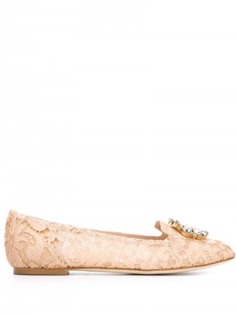 Dolce & Gabbana - Vally slippers - women - Leather/Silk - 36 - PINK