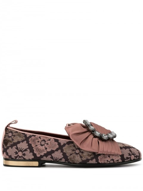 Dolce & Gabbana - jacquard slippers - women - Leather/Polyester - 36, 39, 37,5, 37 - PINK