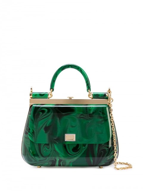 Dolce & Gabbana - mini Sicily bag - women - Plexiglass - One Size - Green