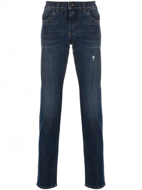 Dolce & Gabbana - Bring Me To The Moon jeans - men - Cotton/Polyester/Spandex/Elastane - 50, 52, 46 - Blue