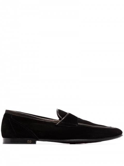 Dolce & Gabbana - Erice loafers - men - Suede/Leather/Rubber - 40, 41, 41,5, 42, 42,5, 43, 44, 45 - Black