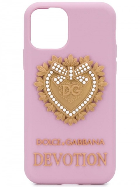 Dolce & Gabbana - silicone iPhone 11 pro case - women - Silicone - One Size - PINK
