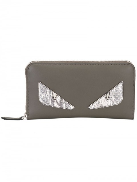 Fendi - Bag Bugs wallet - men - Calf Leather/Snake Skin - One Size - Grey