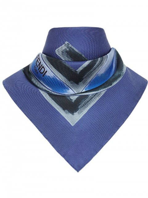 Fendi - F is Fendi foulard - women - Silk - One Size - Blue