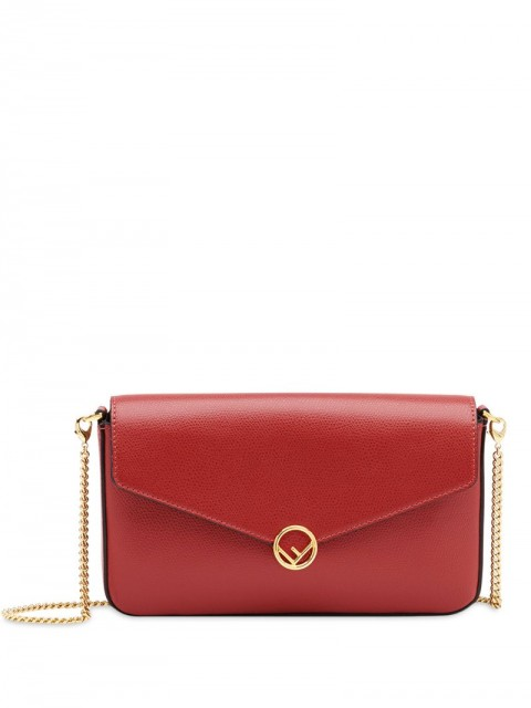 Fendi - F is Fendi wallet-on-chain - women - metal/Calf Leather/Cotton/Acrylic - One Size - Red