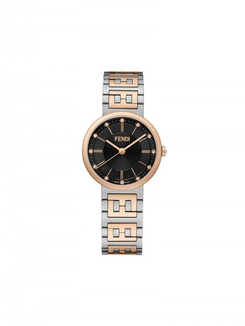 Fendi - Forever Fendi watch - women - Onyx/Diamond/stainless steel/Lacquer - One Size - SILVER