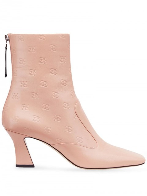 Fendi - FFreedom square toe ankle boots - women - Calf Leather/Lamb Skin/Leather - 35, 36, 37, 38, 38,5, 39, 40 - PINK