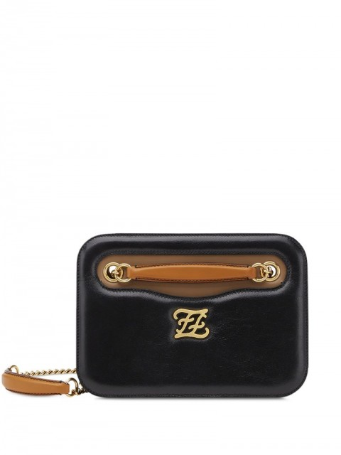 Fendi - Karligraphy Pocket shoulder bag - women - Calf Leather/Sheepskin - One Size - Black