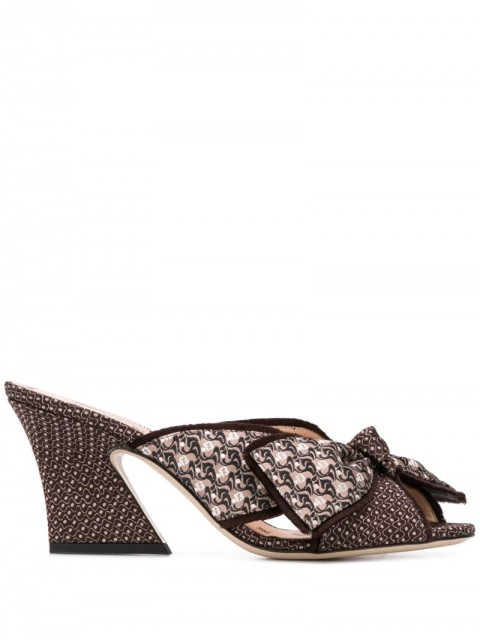 Fendi - FFreedom embroidered mules - women - Leather/Polyester - 35, 37, 36, 37,5 - Brown