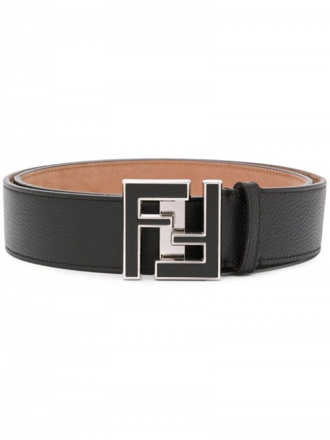 Fendi - FF buckle belt - men - Leather - 90 - Black