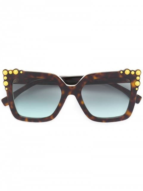 Fendi Eyewear - Can Eye sunglasses - women - Acetate - 52 - Brown