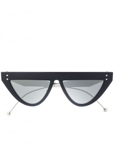 Fendi Eyewear - cat-eye frame sunglasses - unisex - Acetate - 53 - Black