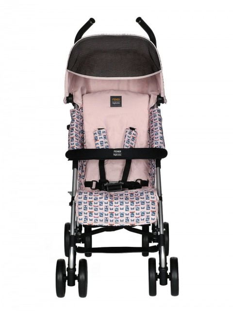 Fendi Kids - monster pattern stroller - kids - Polyester - One Size - PINK