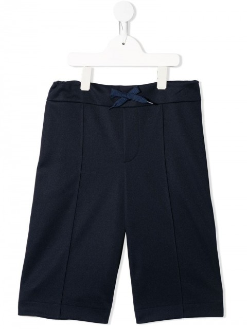 Fendi Kids - FF side stripe track shorts - kids - Cotton/Polyester - 14 - Blue