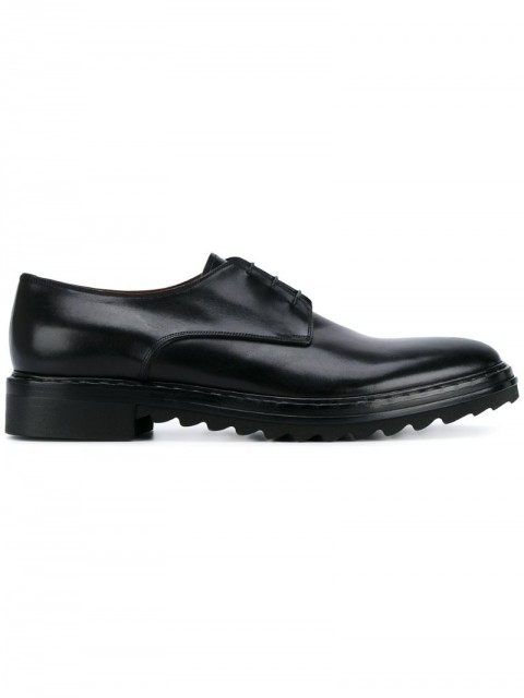 Givenchy - classic Derby shoes - men - Rubber/Leather/Calf Leather - 41 - Black