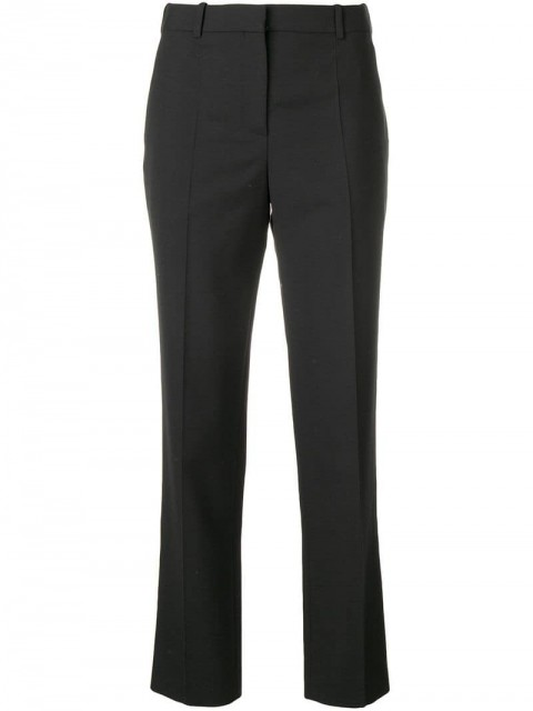 Givenchy - straight tailored trousers - women - Wool/Polyester/Viscose/Cotton - 36, 40, 42 - Black
