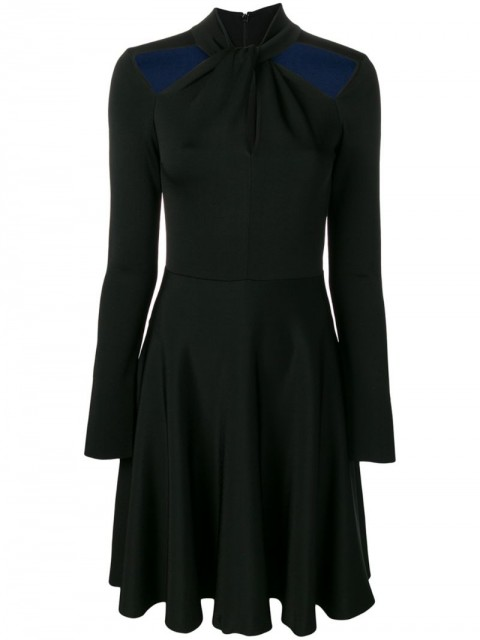 Givenchy - fit-and-flare dress with cut-outs - women - Viscose/Polyamide/Spandex/Elastane - S - Black