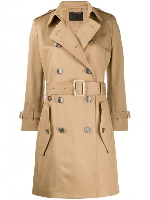 Givenchy - belted trench coat - women - Cotton/Silk - 42 - Neutrals