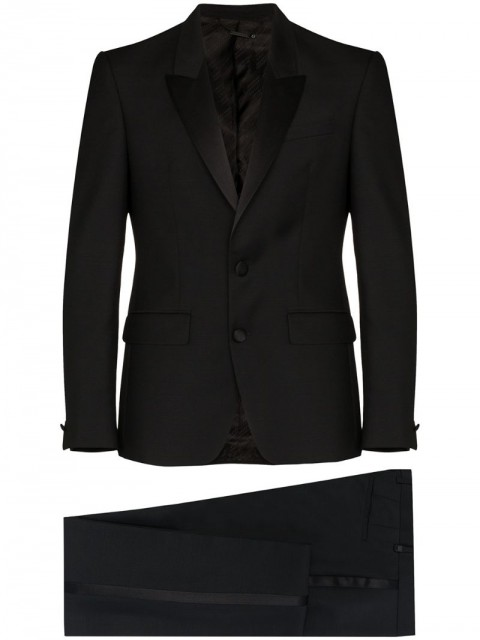 Givenchy - two piece single-breasted suit - men - Silk/Cotton/Polyester/Wool - 50, 52 - Black