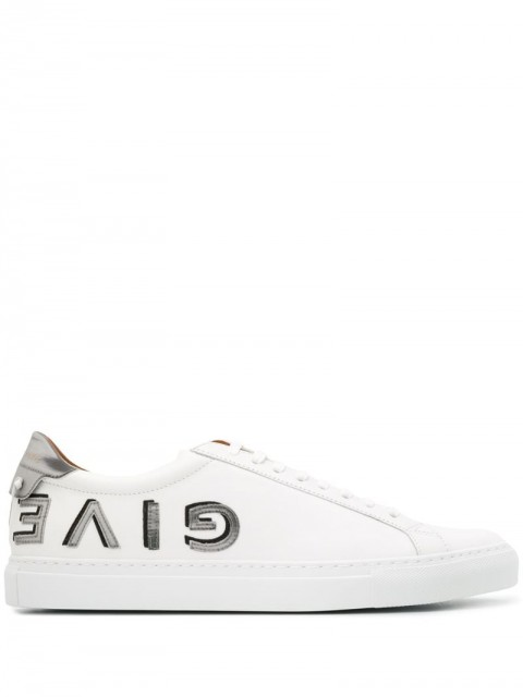 Givenchy - reverse logo low top sneakers - men - Leather/Rubber - 40, 42, 42.5, 41 - White