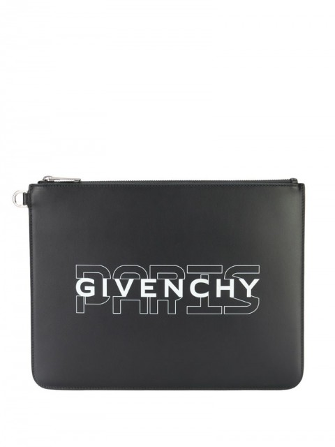 Givenchy - logo pouch - men - Leather - One Size - Black