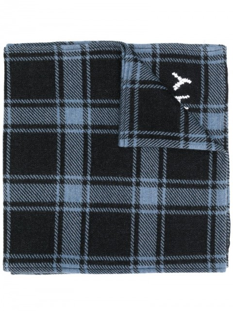 Givenchy - checked winter scarf - men - Wool/Silk - One Size - Blue