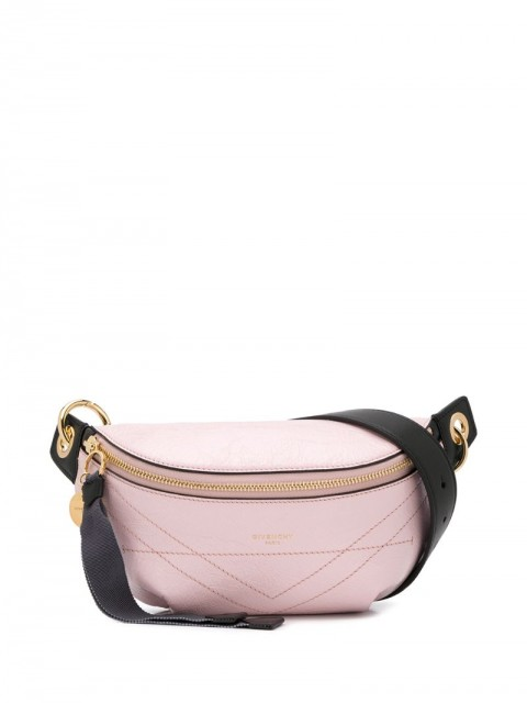 Givenchy - ID wrinkled-effect belt bag - women - Leather - 85, 75 - PINK