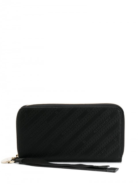 Givenchy - chain leather wallet - women - Calf Leather - One Size - Black