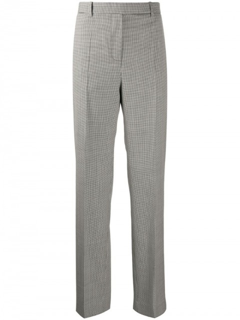 Givenchy - houndstooth tailored trousers - women - Cotton/Wool - 36, 38, 40 - Black