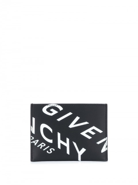 Givenchy - compact logo cardholder - men - Calf Leather - One Size - Black