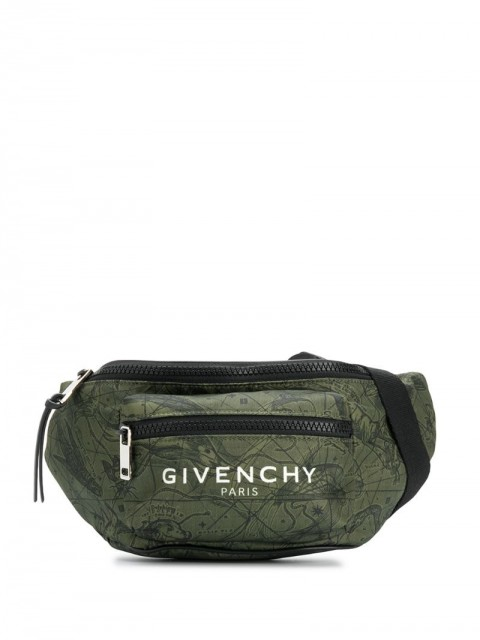 Givenchy - Astral print belt bag - men - Polyester - One Size - Green