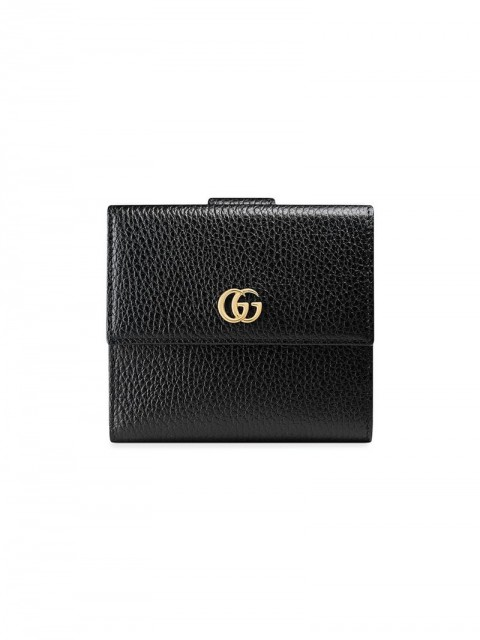 Gucci - Leather french flap wallet - women - Leather - One Size - Black