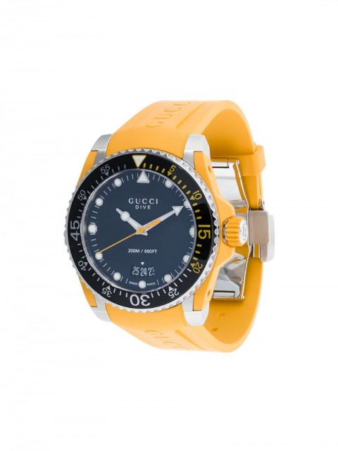 Gucci - Dive watch - men - stainless steel/silicones - One Size - yellow