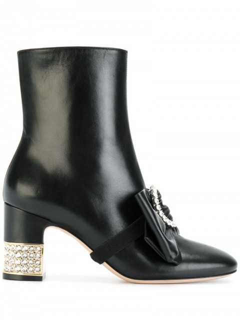 Gucci - stone ankle boots - women - Leather - 36, 36.5, 37, 37.5, 38, 39, 39.5, 40, 40.5 - Black