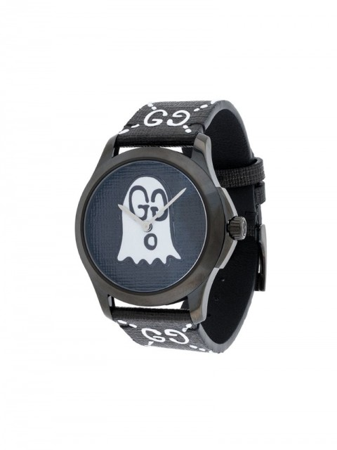 Gucci - Black White GucciGhost G-Timeless watch - men - Leather/stainless steel - One Size - Black