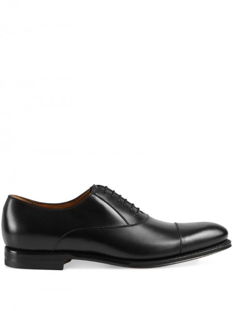 Gucci - Leather lace-up - men - Leather - 8, 11 - Black