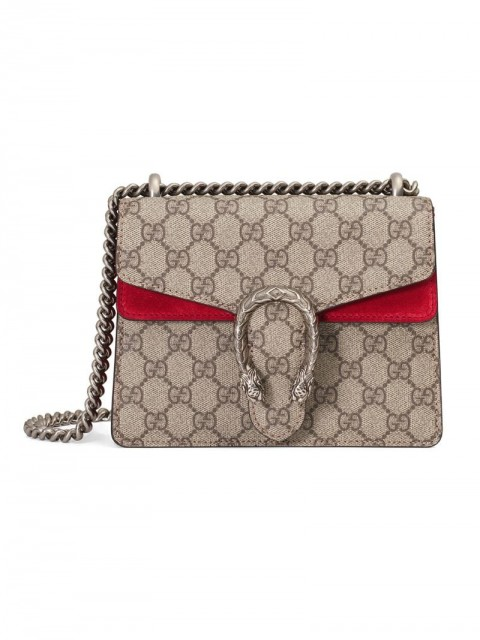 Gucci - Dionysus GG Supreme mini bag - women - Canvas/metal/Suede - One Size - Neutrals