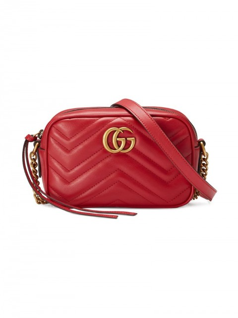 Gucci - GG Marmont matelassé mini bag - women - Calf Leather - One Size - Red
