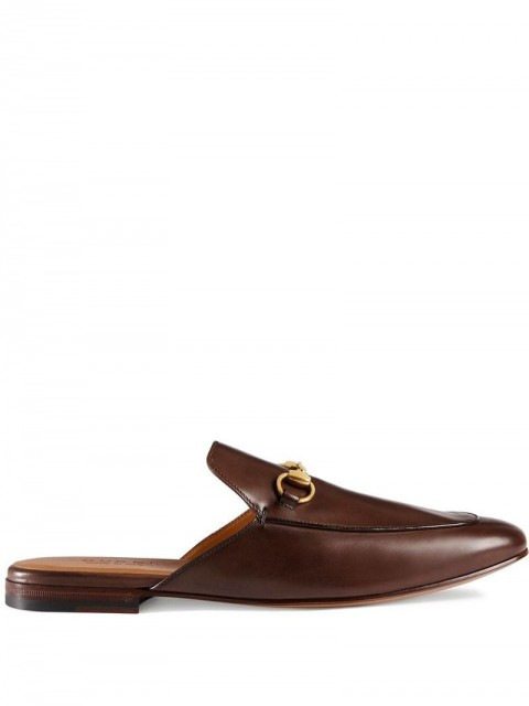 Gucci - Leather Horsebit slipper - men - Leather/metal - 6, 7,5 - Brown