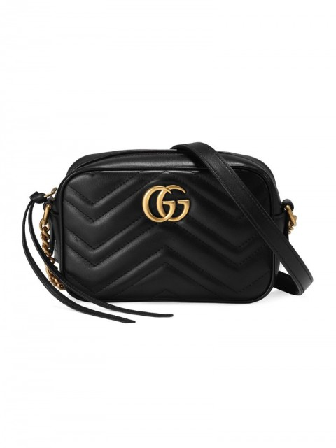 Gucci - Black GG Marmont Mini leather bag - women - Microfibre/metal/Leather - One Size - Black